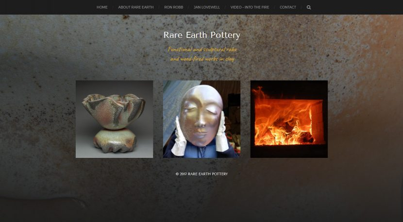 WordPress Website design for Rare Earth Pottery, Powell River