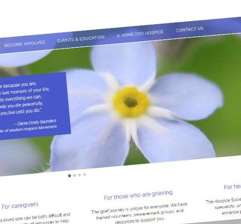 WordPress design for Powell River Hospice website